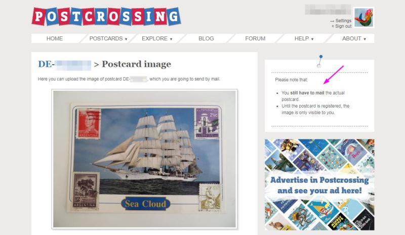 postcrossing foto