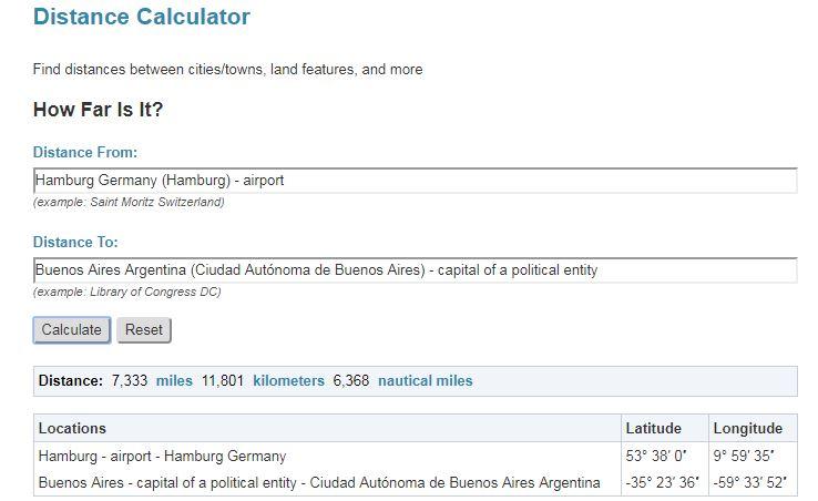 Wie weit ist es nach Buenos Aires