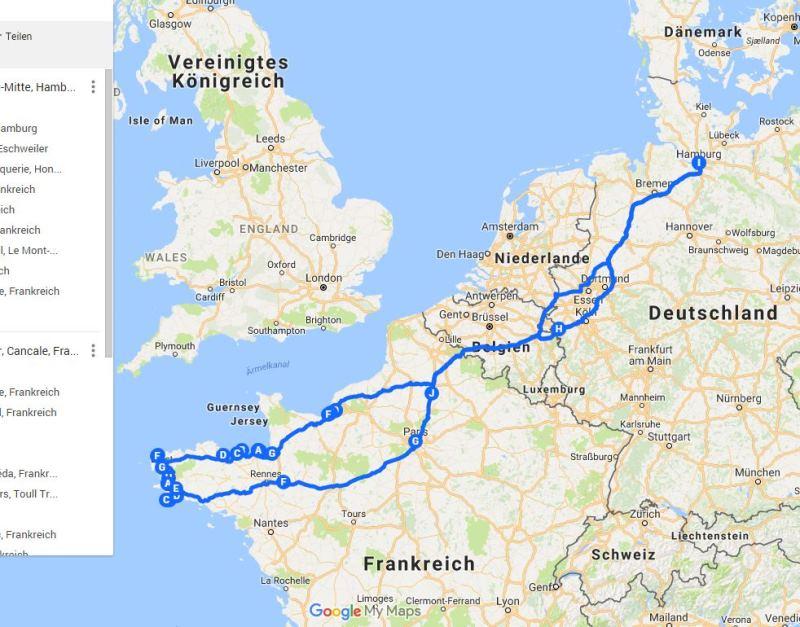 Google My Maps Empfehlung reisetippsvonjessica