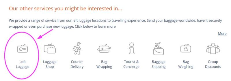service von excess baggage in london gepäck
