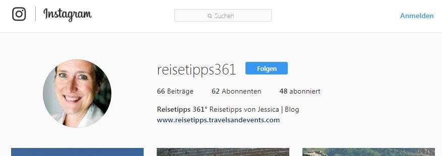 Reisetipps von Jessica bei Instagram