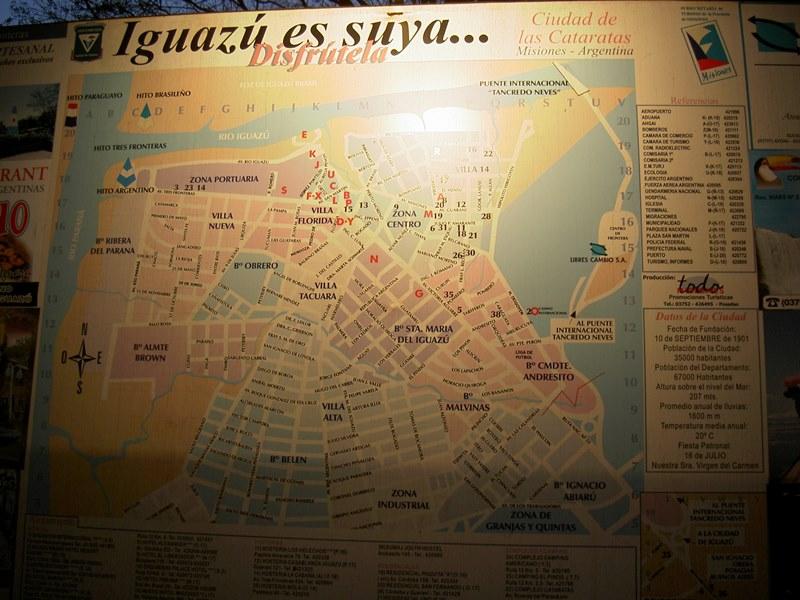 Stadtplan Iguazu (Ort/Stadt, Argentinien