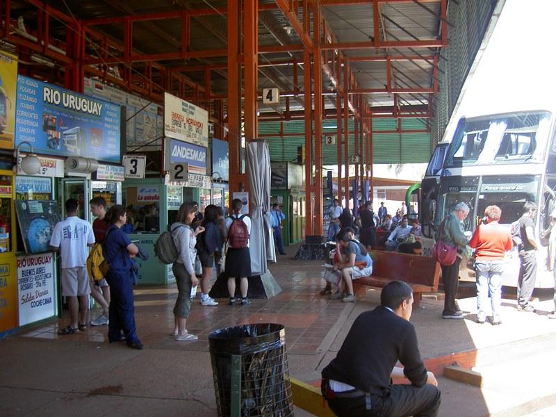 Bus Bahnhof Iguazu Argentinien Brasilien