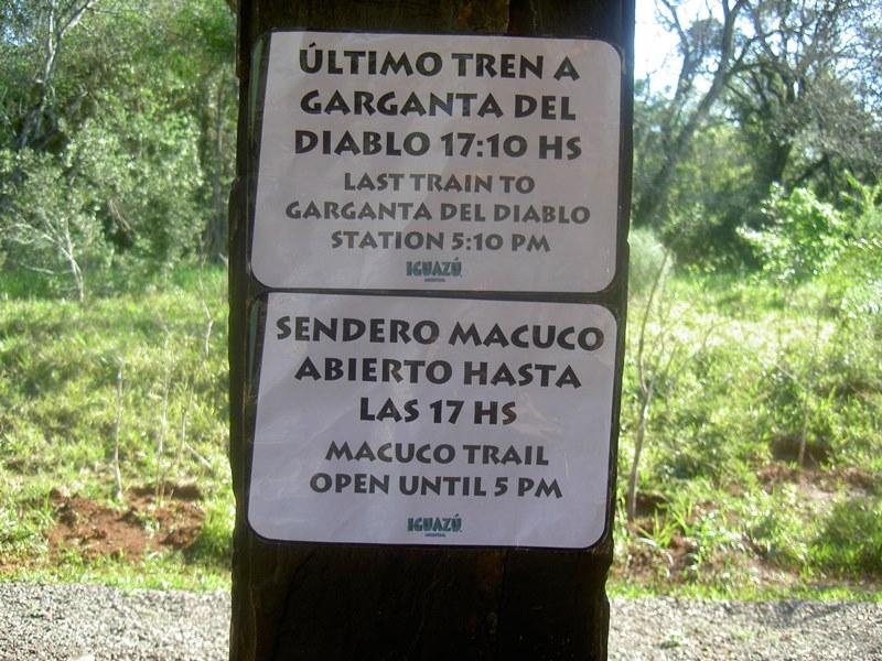 Garganta, Macuco in Iguazu Argentinien