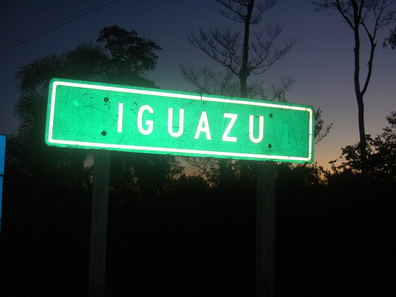 Ortsschild Iguazu