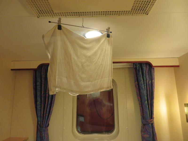 kabine feuchtes handtuch