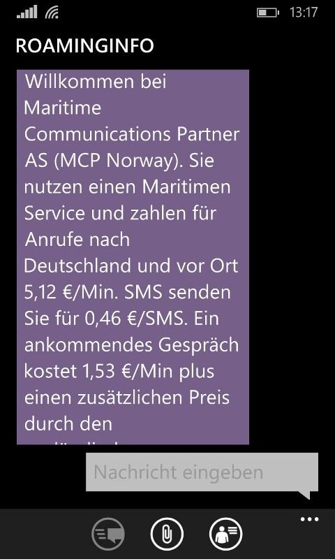 Vorsicht Achtung MCP Norway Funknetz auf See