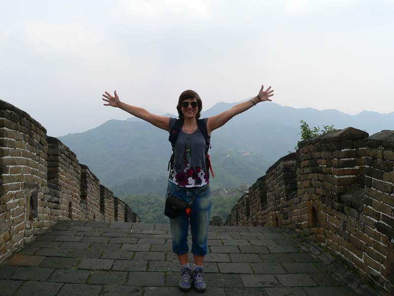 Jessica auf der Grossen Mauer, in Mutianyu